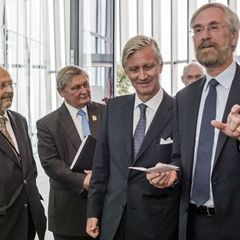 King Philippe of Belgium meets Governor of the European Central Bank Mario Draghi