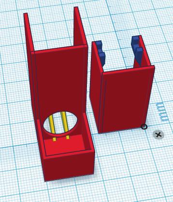 Erster Entwurf der Grundelemente für die Plattform in Tinker-CAD