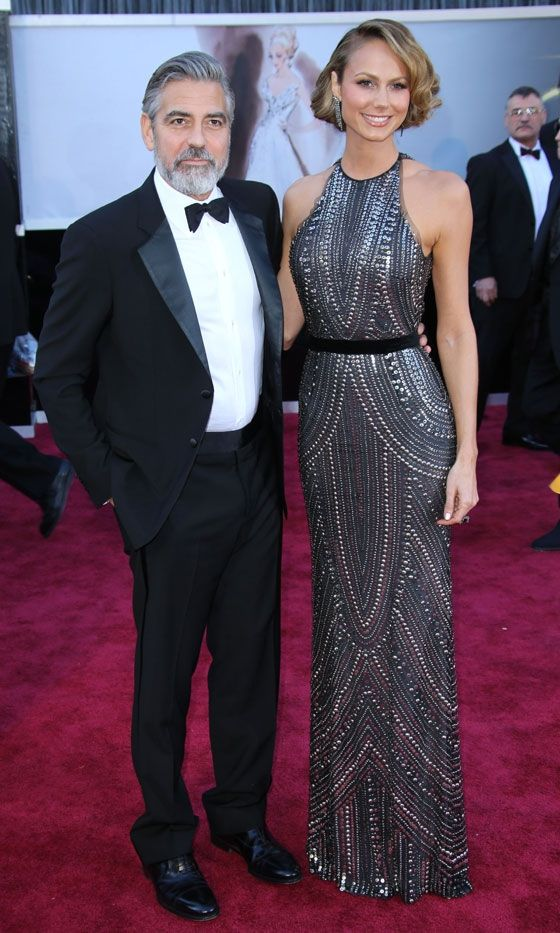 George Clooney And Stacy Keibler At The Oscars, 2013