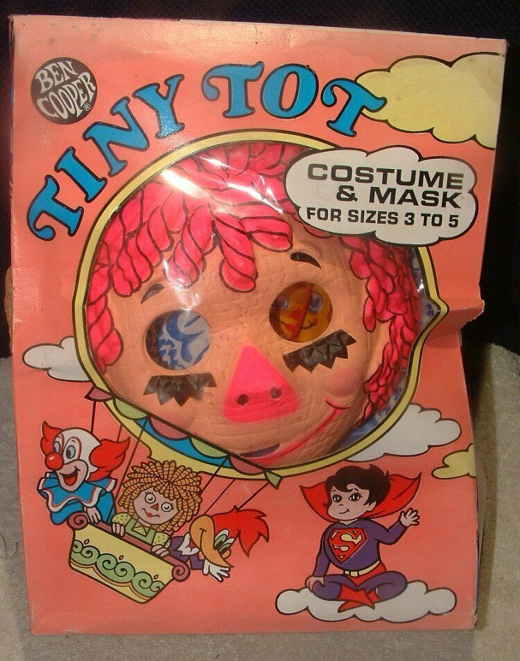 Vtg 1965 Ben Cooper Raggedy Ann Halloween Costume In