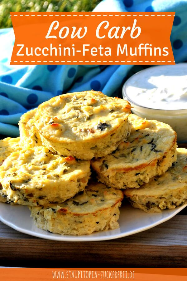 Photo of Low carb zucchini feta muffins with only 4 ingredients – Staupitopia sugar free