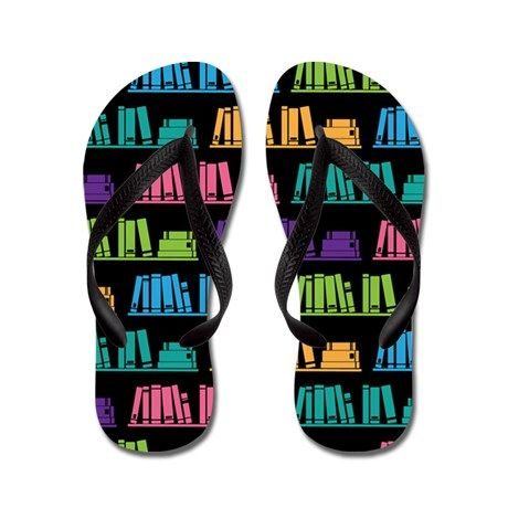 0ac3ffd5bd9aec Book Lover Librarian Reader Flip Flops on CafePress.com - one of a few  different styles