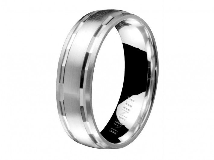 Infinity Brand Men S Platinum Wedding Ring White Gold And Character