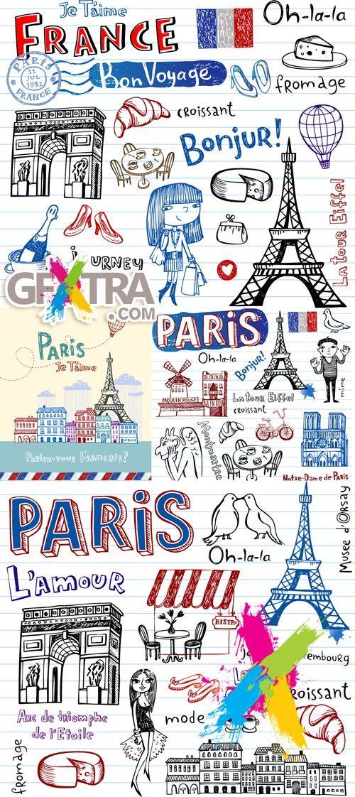 Paris Drawing Pinterest Symbols France And Journal