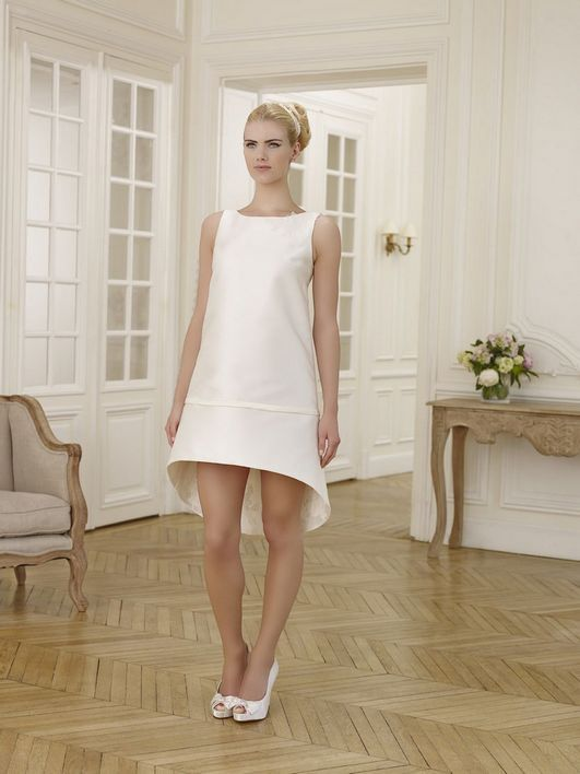 Robe blanche courte pour mariage civil