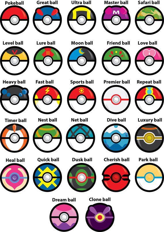 Image Result For Pokeball Names Birthday Pokemon Pokémon