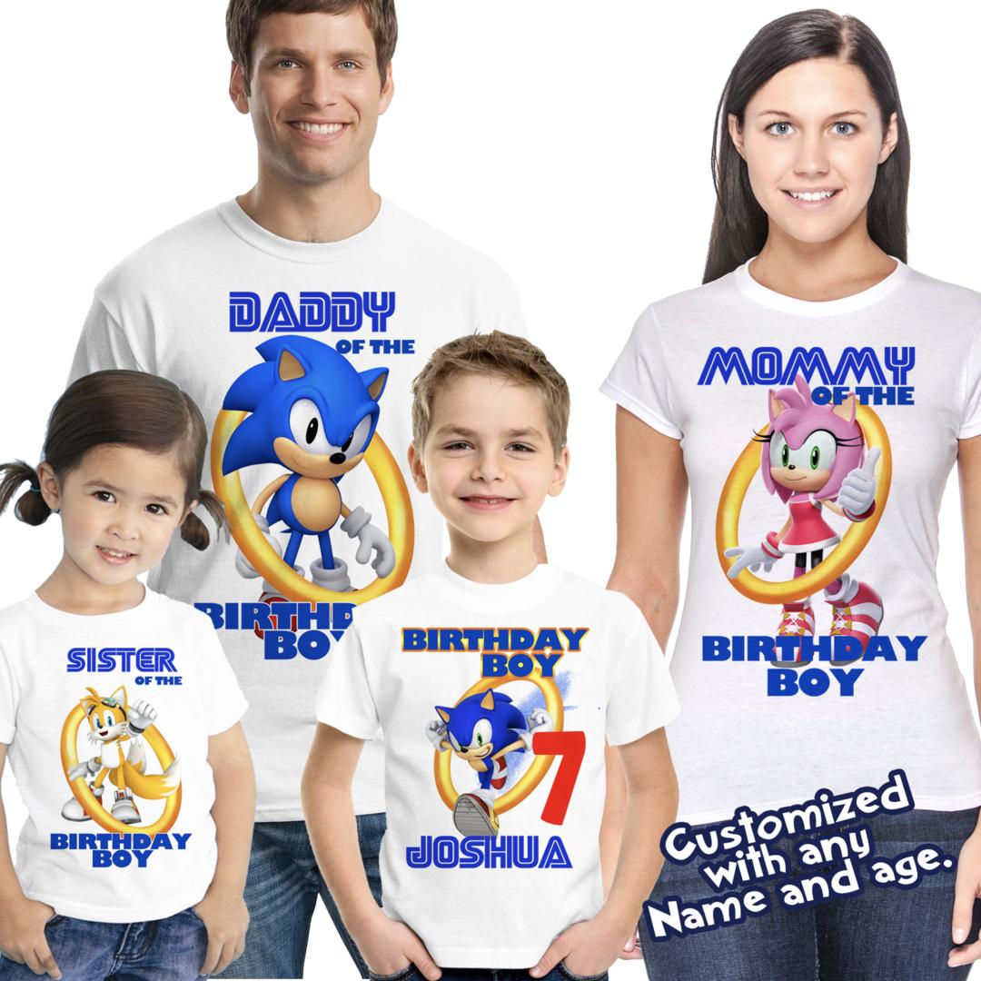 Sonic Birthday Shirt Sonic The Hedgehog Birthday Sonic Party Sonic Birthday Sonic Birthday Parties Sonic Party