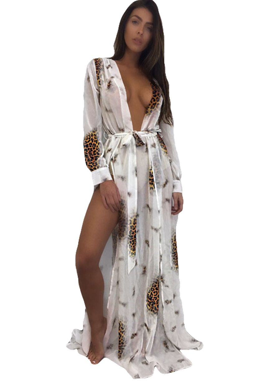 26d5cd936c Chic Multi-Color Long Sleeve Swimsuit Cover-up Dress With Belt_Beach  Dress_Swimwears_Sexy Lingeire | Cheap Plus Size Lingerie At Wholesale Price  ...