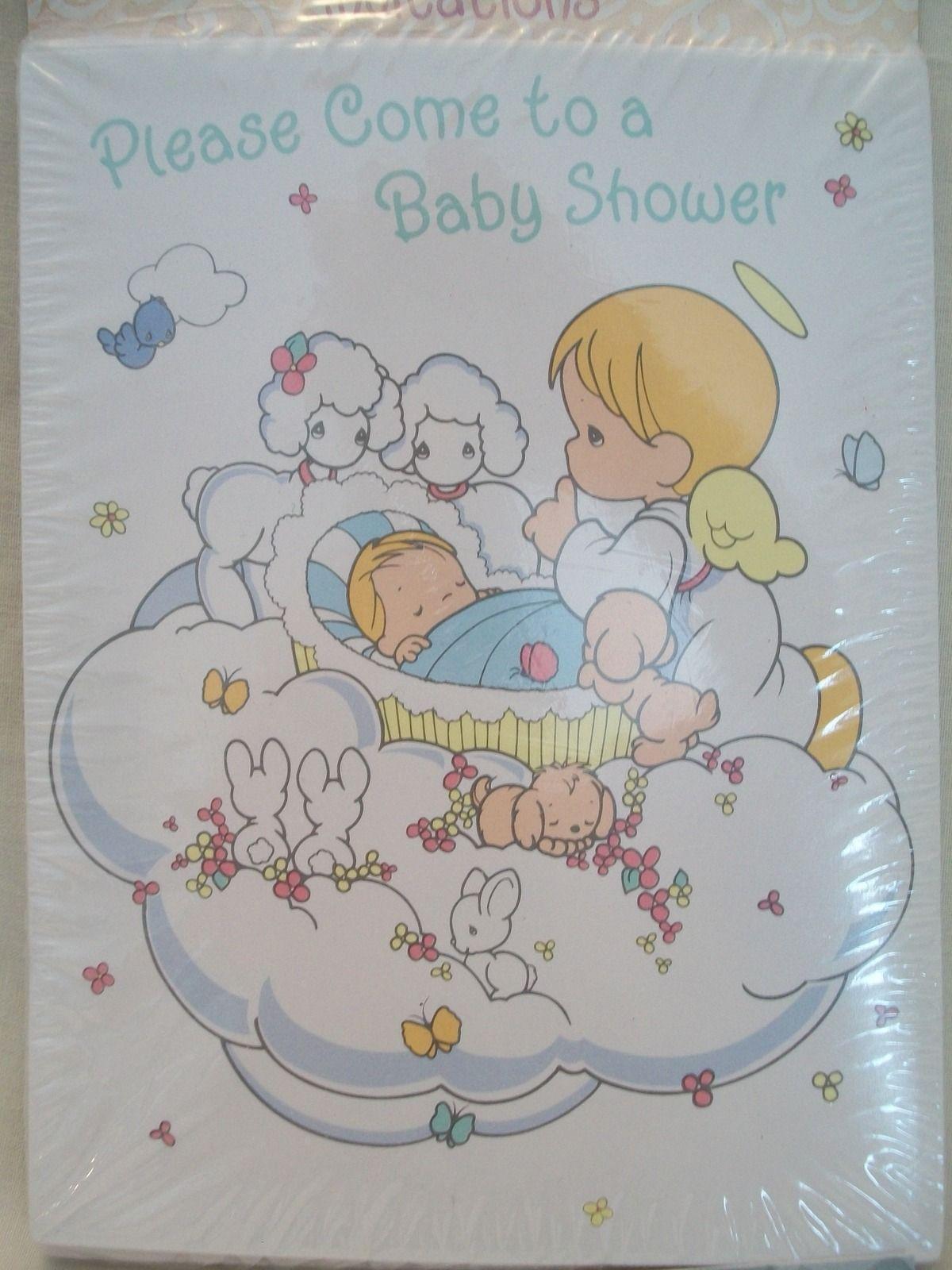Precious Moments Baby Shower invitations