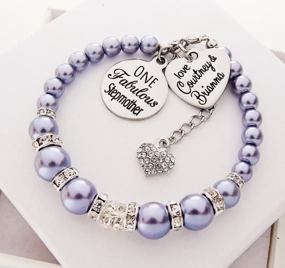 Stepmother Gift For Christmas Personalized Bracelet For