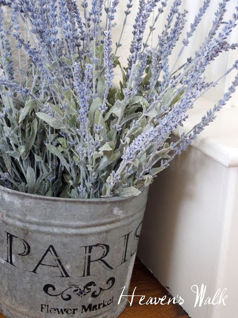 Heaven's Walk: { french flower bucket and linky parties }