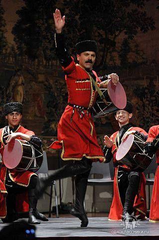 Traditional Costume shown in Azerbaijan Folk Dance