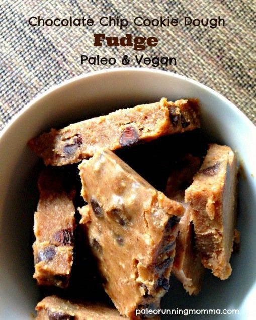 Easy Chocolate chip cookie dough fudge #paleo and #vegan - simply the best! Must try! #paleodessert #cookiedoughfudge Easy Chocolate chip cookie dough fudge #paleo and #vegan - simply the best! Must try! #paleodessert #cookiedoughfudge