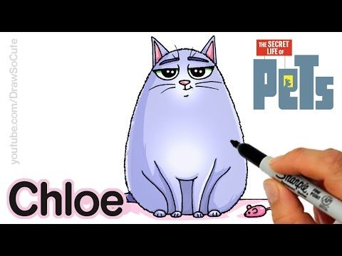 How To Draw Chloe Step By Step Easy The Secret Life Of Pets