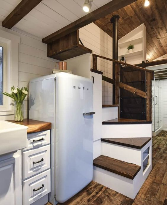 Rustic 24ft Loft Edition Tiny House For Rent In Delta