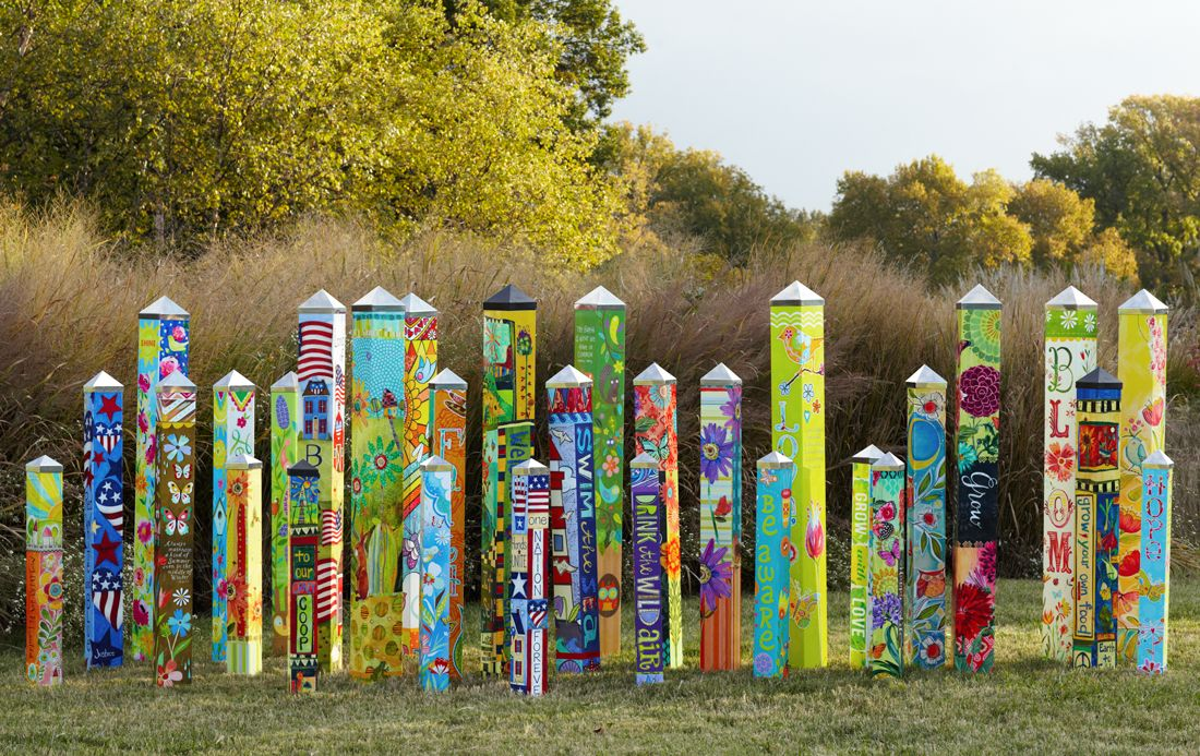 Art Poles For The Garden If You Like Whimsy And Color These Are