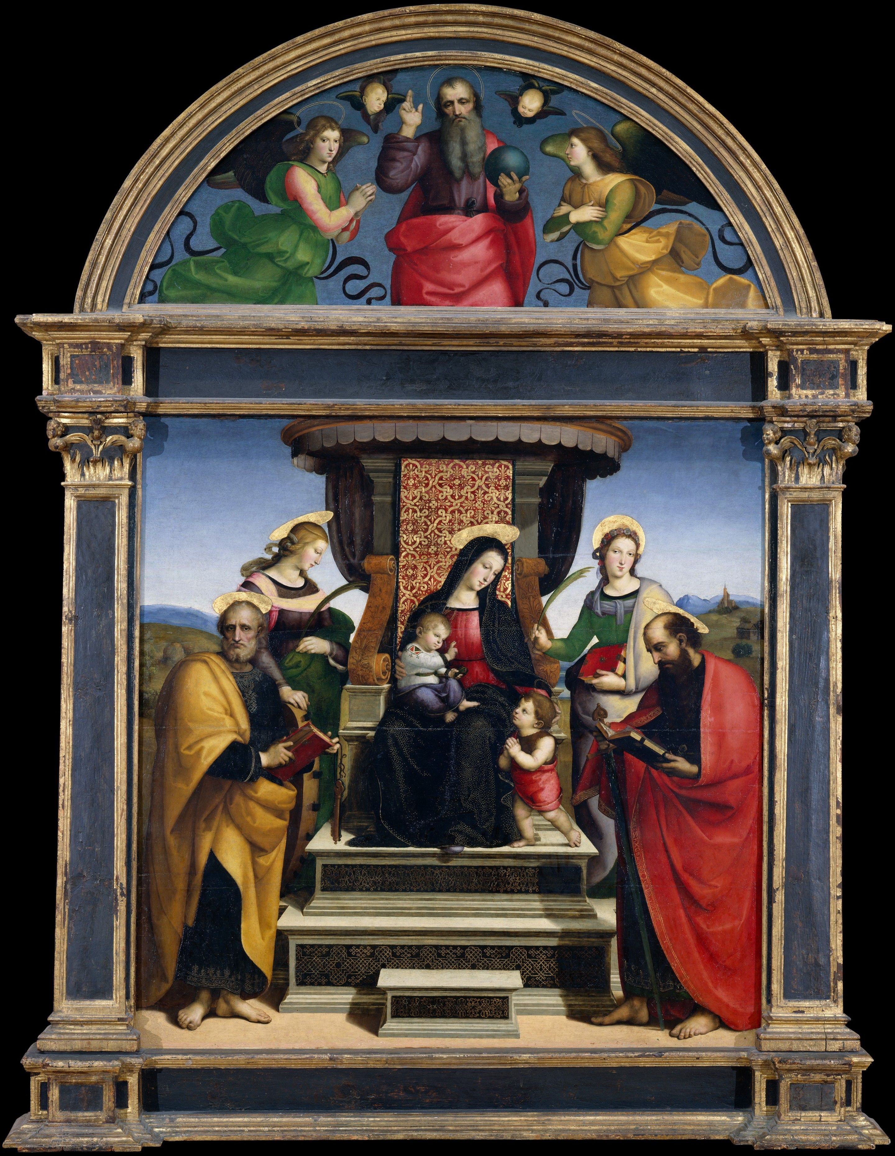 Madonna and Child Enthroned with Saints; Raphael
