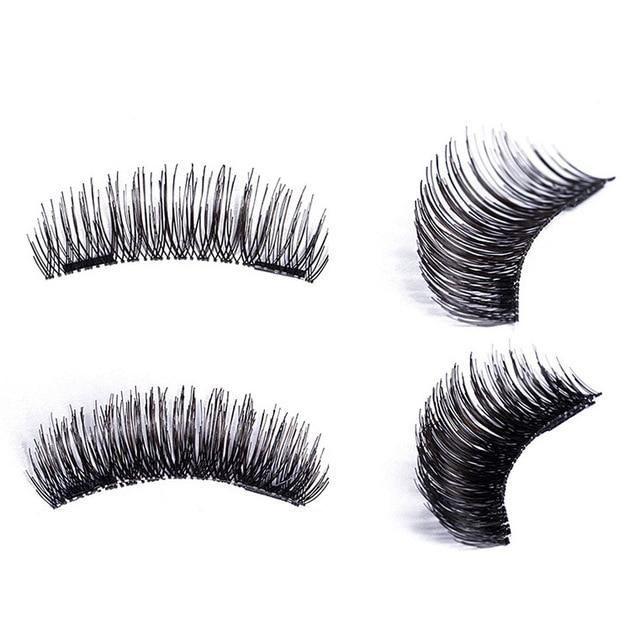 2e3ef14a7fb 4pcs/pairs Magnetic Eyelashes 3D magnet lashes Soft Natural Long Hair Magnet  Eyelashes on the Magnet False Eye Lashes Extensions #EyeLashesFake