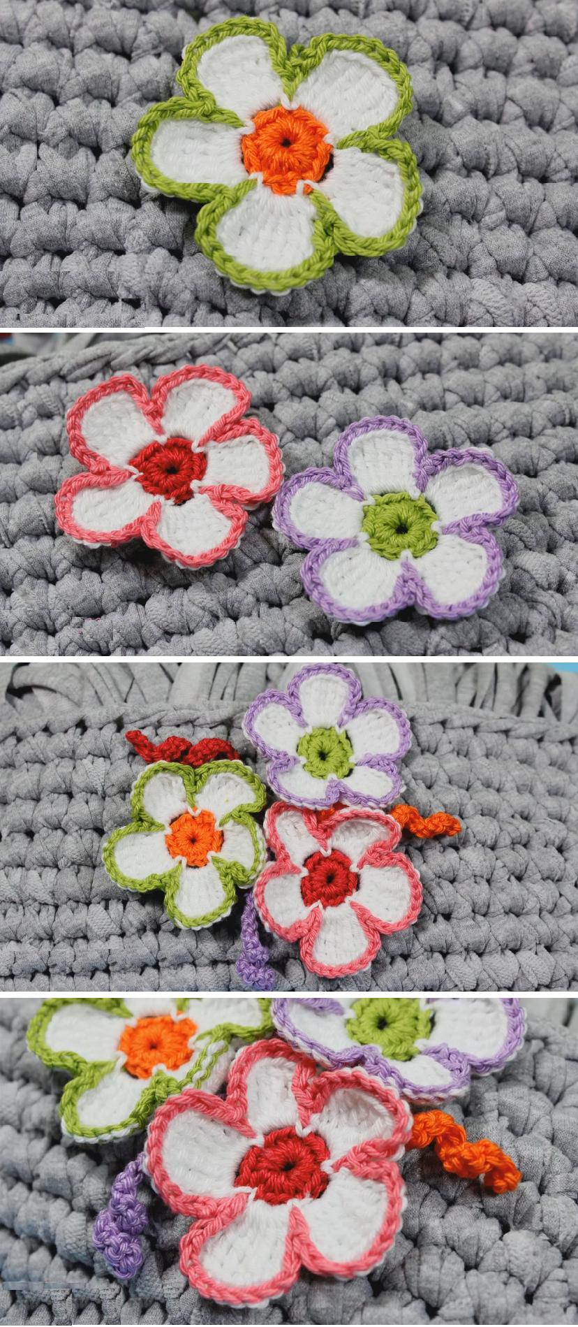 Crochet Easy Flower – Design Birdy | Cactus suculentas y flores ...
