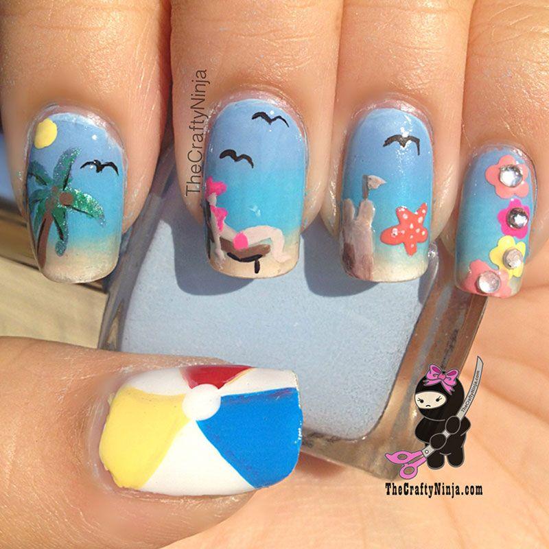 70 fotos de uas decoradas para el verano summer nail art 70 fotos de uas decoradas para el verano summer nail art decoracin de prinsesfo Image collections