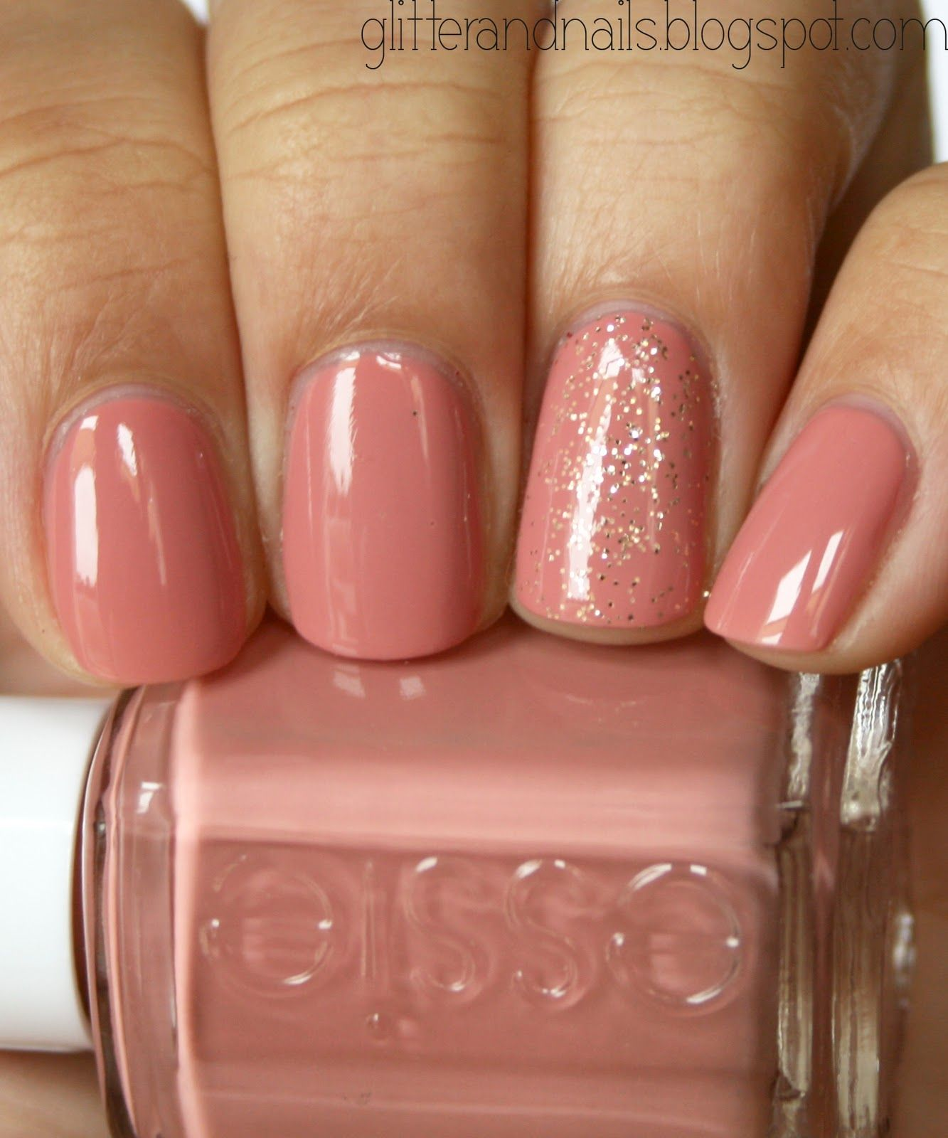 Essie Eternal Optimist + Paillettes Martha Stewart Smoky Quartz ...