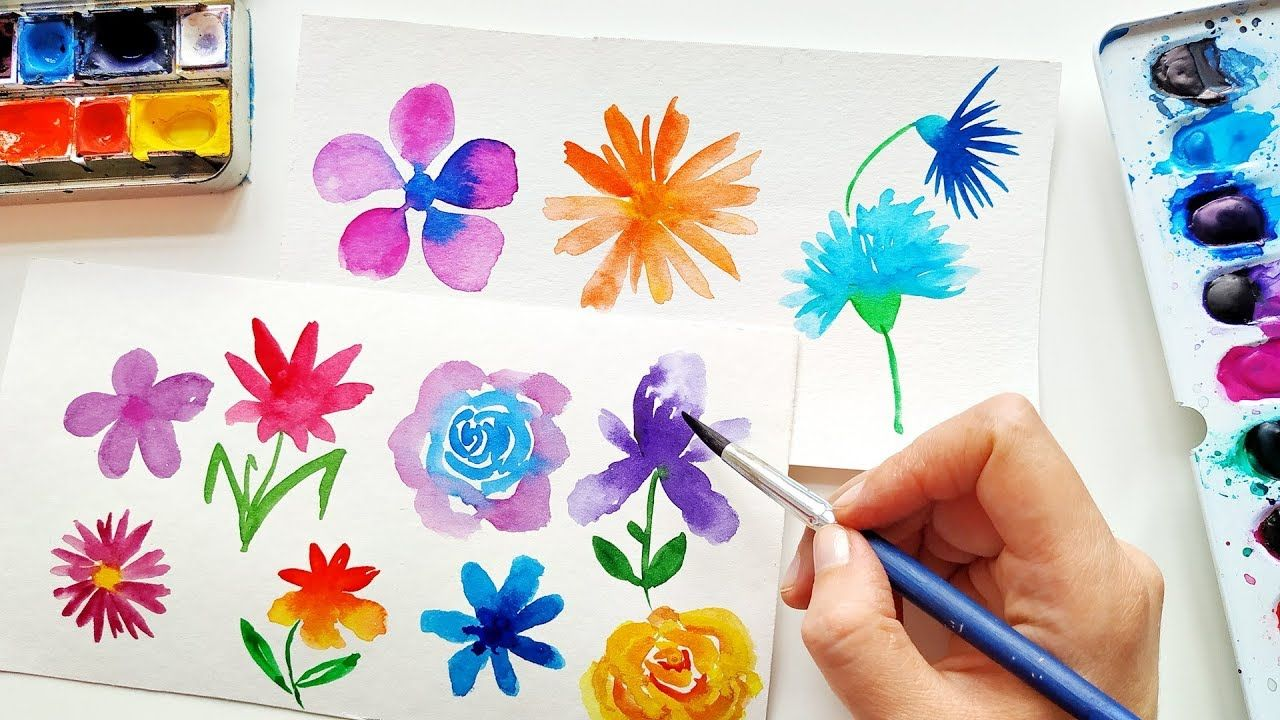 Super Easy Watercolor Flowers Ideas Loose Floral Painting For