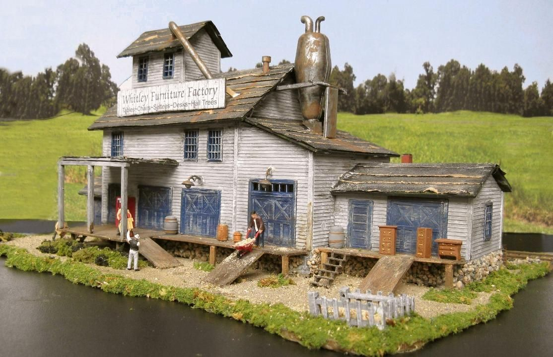Furniture Factory Building ~ 1:87 Diorama | HO Scale Model ...