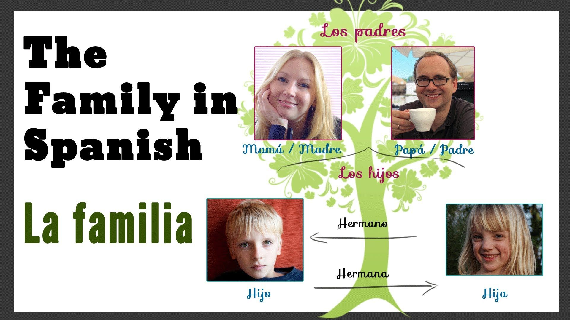 Describing Your Family In Spanish Vocabulary Examples