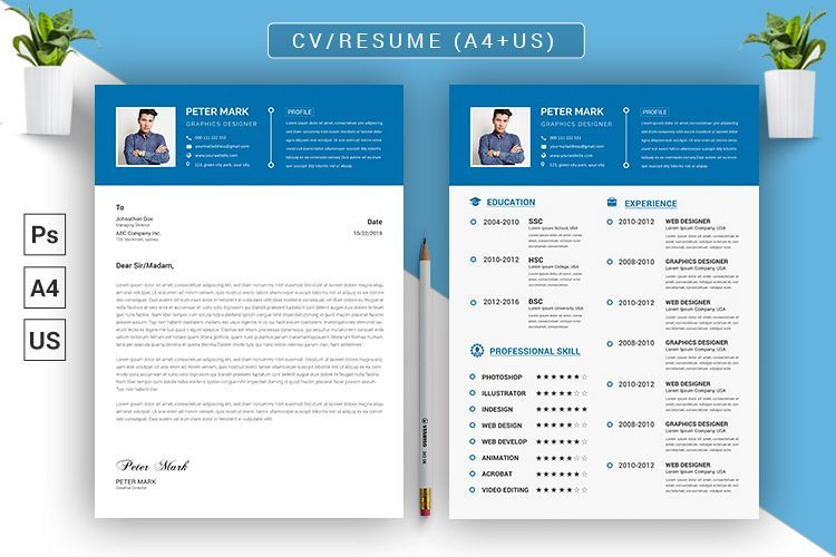 Cv Resume Psd Template 409982 Resume Templates Design Bundles Desain