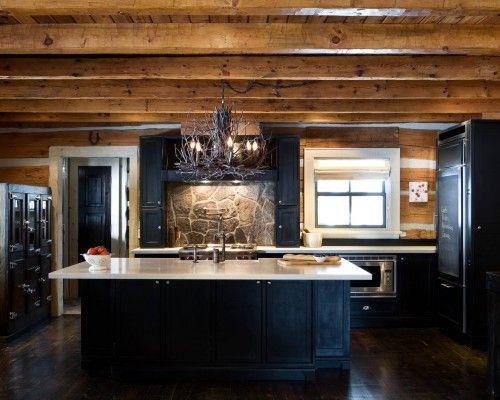 Picture8 in 2019 | Rustic kitchen, Black kitchen cabinets ...