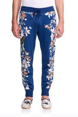 808da2cc03535d DOLCE   GABBANA Bird Embroidery Jogging Pants.  dolcegabbana  cloth  pants
