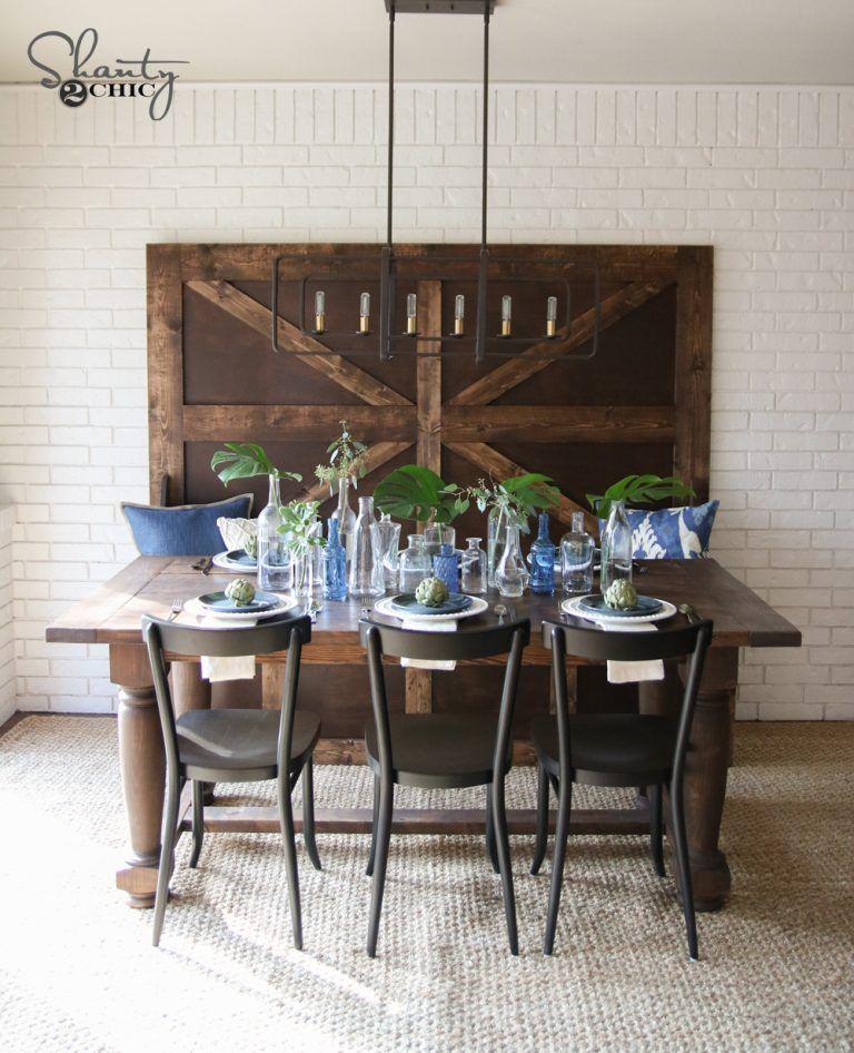 DIY Turned Leg Farmhouse Dining Table Farmhouse dining