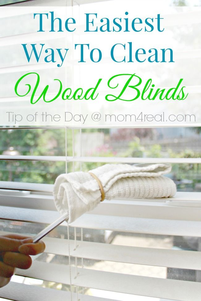 The Easy Way To Clean Wood Blinds Tip Of Day