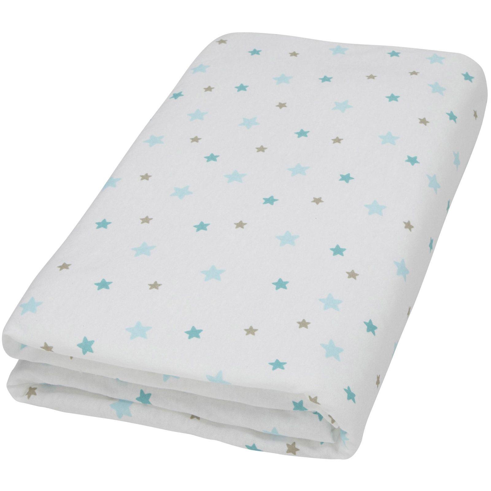 drap housse blanc imprim flocon toiles aqua 70 x 140 cm domiva c 39 est nouveau it 39 s. Black Bedroom Furniture Sets. Home Design Ideas