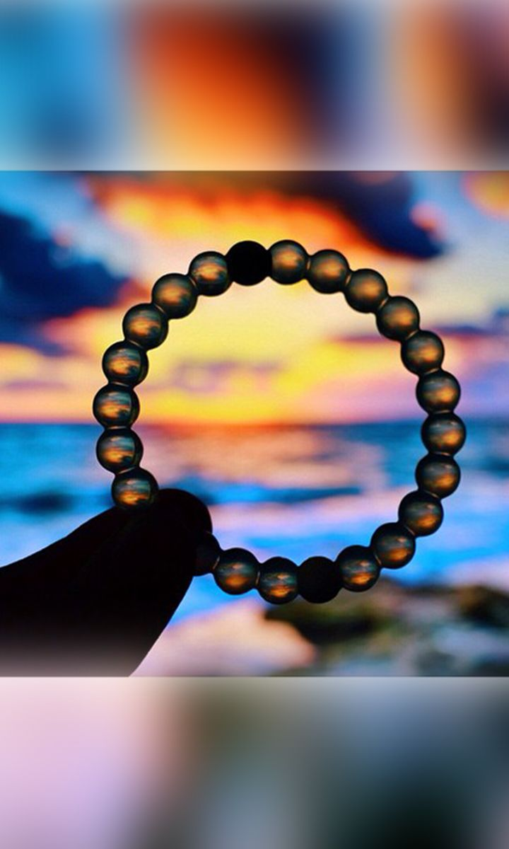 The Lokai Bracelet is injected with elements from the lowest and highest points on Earth signifying life's balance...a good reminder.