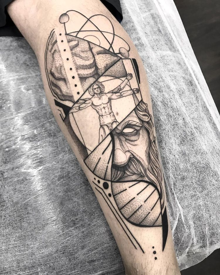 Pin De Luiz Menezes En Tattoo T A T U I R O V K I Tatuaje Hombre De Vitruvio Tatuajes Interesantes Hombres Tatuajes