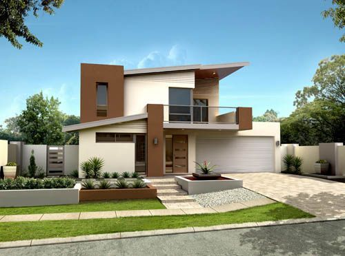 160 im genes de fachadas de casas modernas minimalistas y for Casas minimalistas pequenas