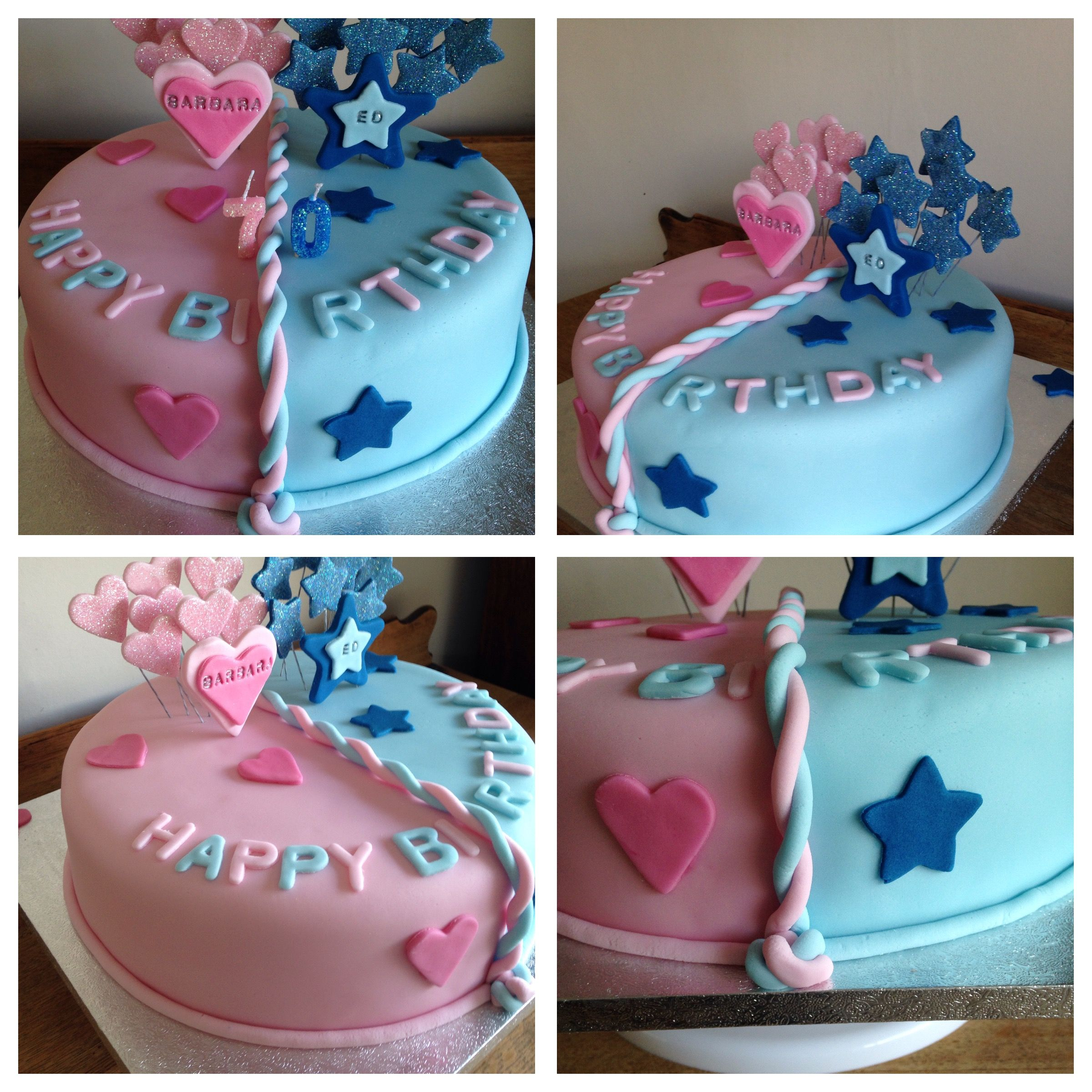 His And Hers Joint Birthday Cake Twin Birthday Cakes New