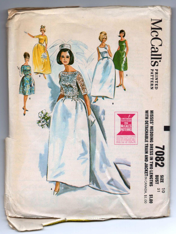 1960 wedding dresses  us McCallus Wedding Dress with detachable Train and Jacket