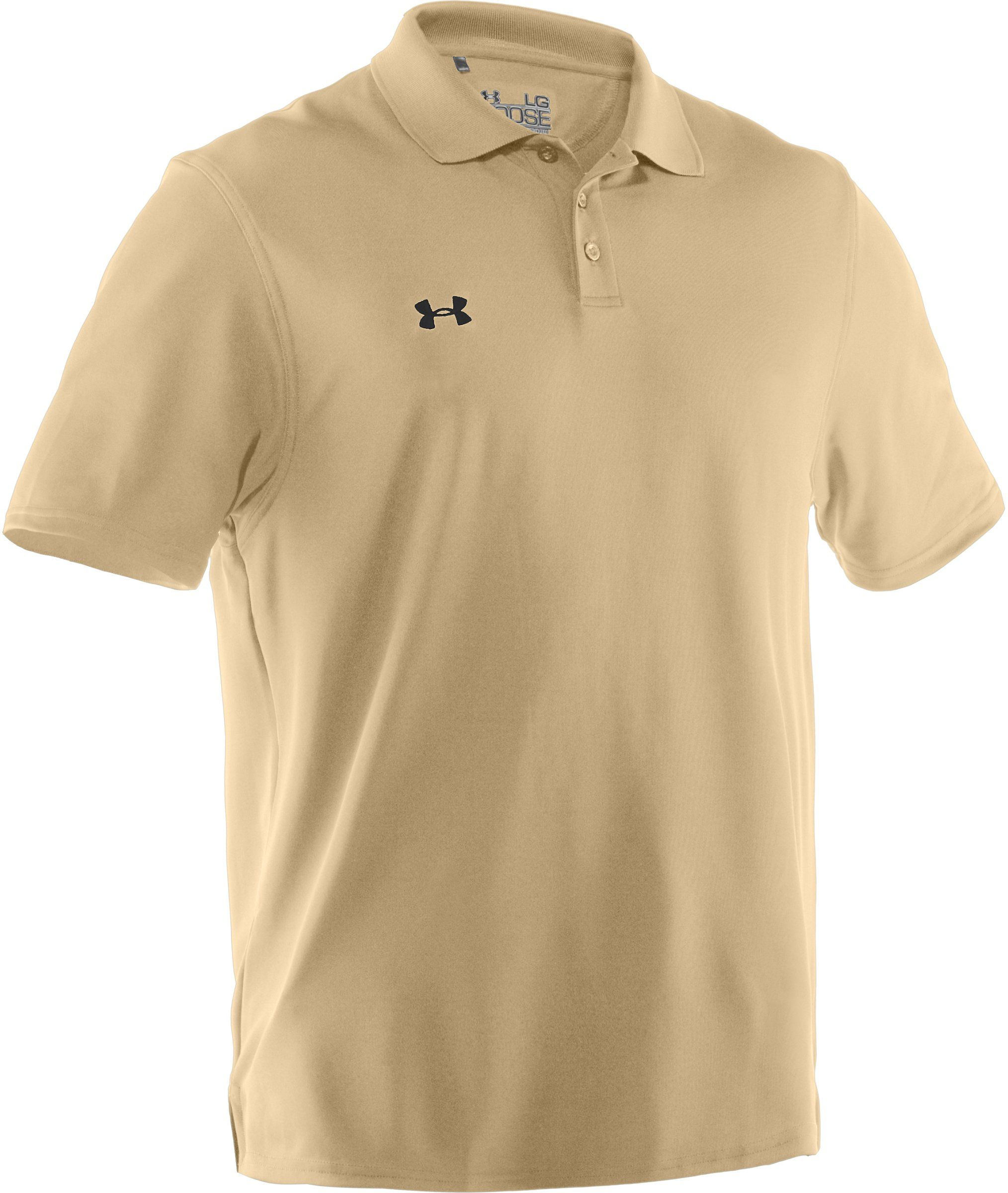 Under Armour Team Performance Polo Vegas Gold Black Small More Info Could Be Found At The Image Url This L Performance Polos Under Armour Men Under Armour