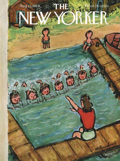 Abe Birnbaum : Cover art for The New Yorker 1540 - 21 August 1954