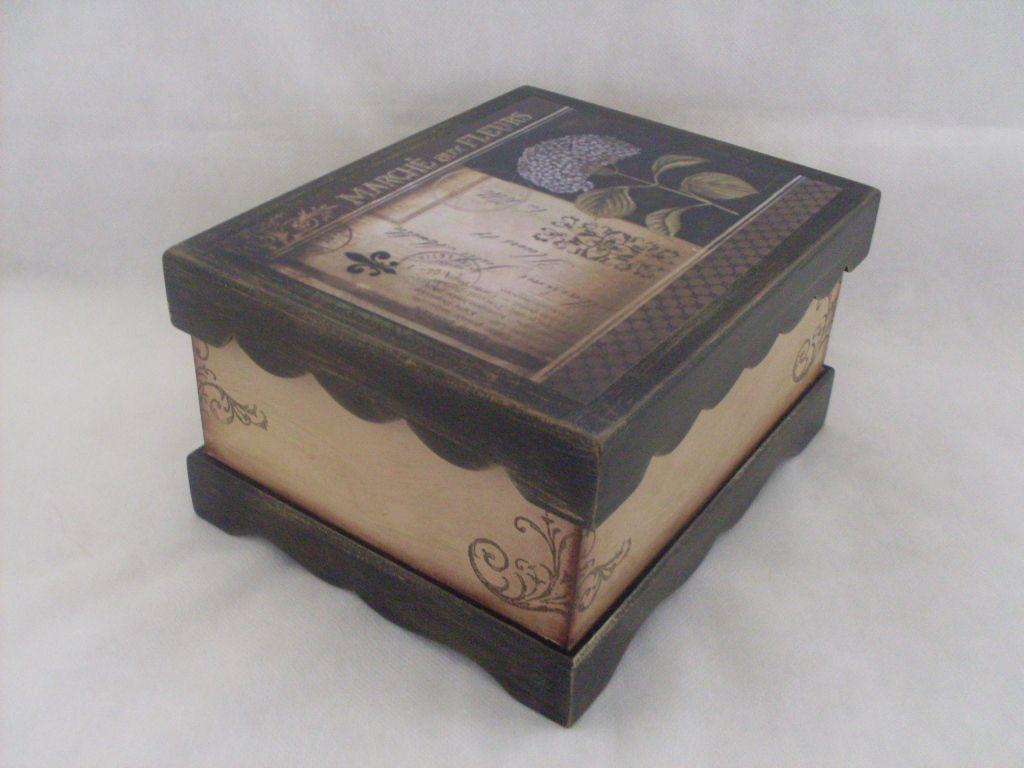 caixas em mdf decoradas vintage - Pesquisa Google