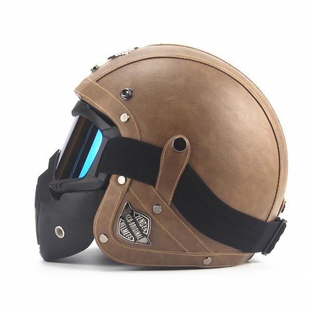 Vintage Leather Motorcycle Helmet Face Mask Motorcycle Helmets Motorcycle Helmets Half Motorcycle Helmets Art
