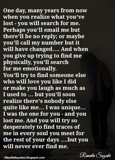 Breaking Up And Moving On Quotes One Day Many Years From Now