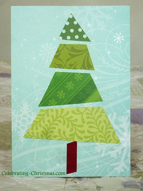 How To Make Xmas Cards Ideas Part - 50: Easy, Handmade Christmas Tree Card Idea