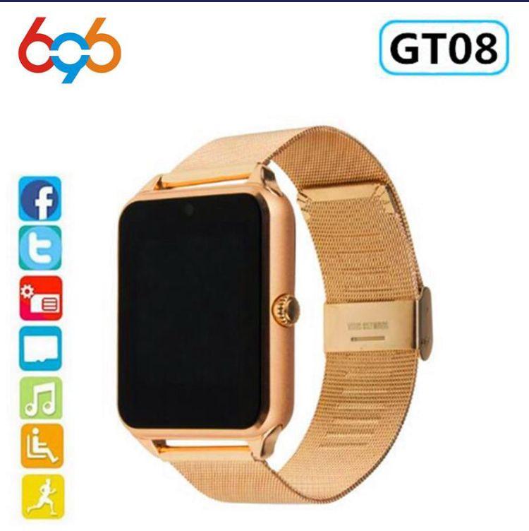 696 Montre Connectee Gt08 Plus Bracelet En Metal Bluetooth Montre