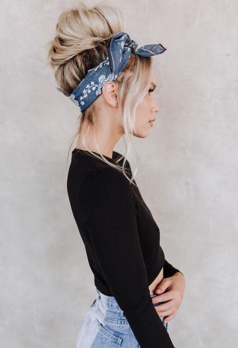 Five hairstyles for long hair – #bandana #hair,  #Bandana #Hair #hairstyleforlonghair #Hairst…
