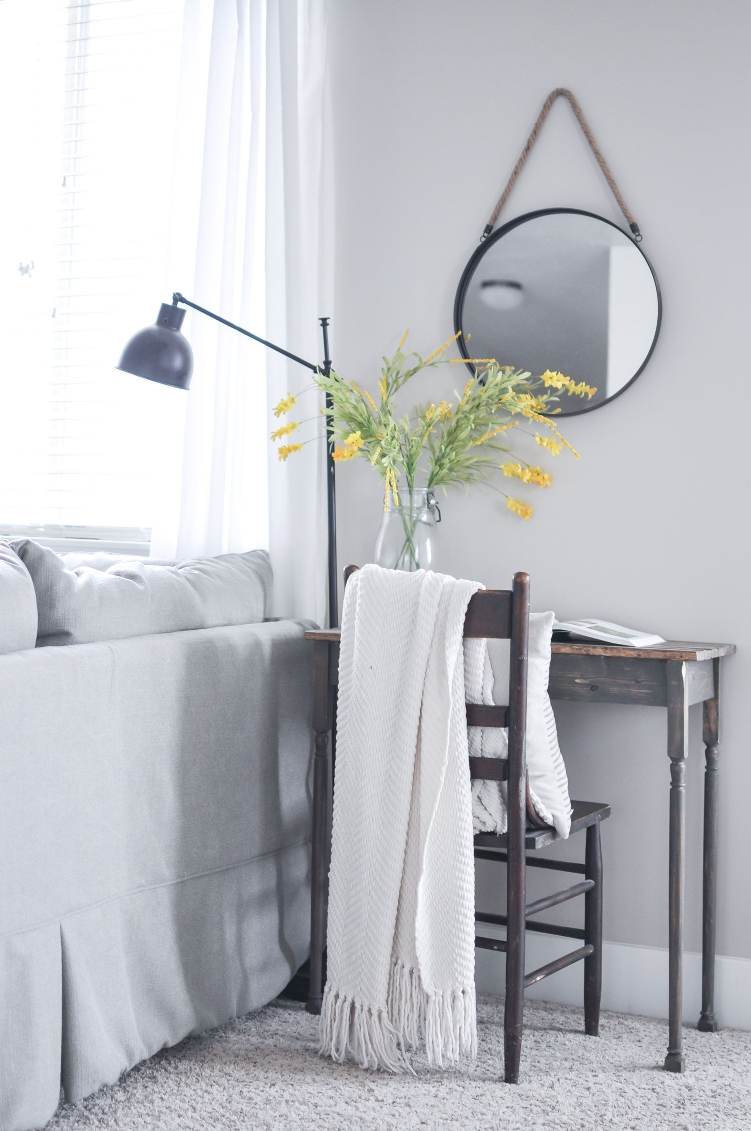 Our home consists of neutral simple and easy to manage decor this