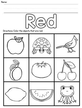 Color Recognition Coloring Sheets Color Worksheets For Preschool Literacy Activities Preschool Preschool Worksheets