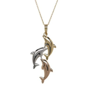Infinite gold 14k gold dolphin pendant necklace found at jcpenney infinite gold 14k gold dolphin pendant necklace found at jcpenney aloadofball